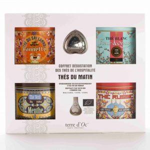 Keturių skirtingų arbatų rinkinys su sieteliu, 80 g.